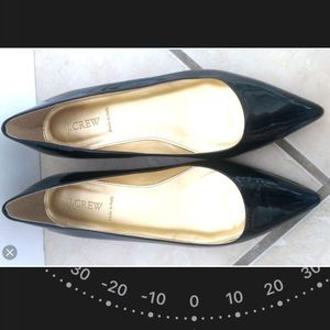 J Crew Made in Italy SZ 6 Black Pointed Flats